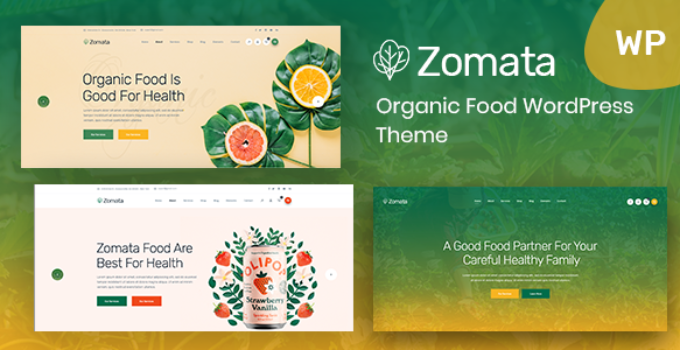 Zomata - Organic Food WordPress Theme