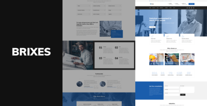 Brixes - Factory & Industry WordPress Theme