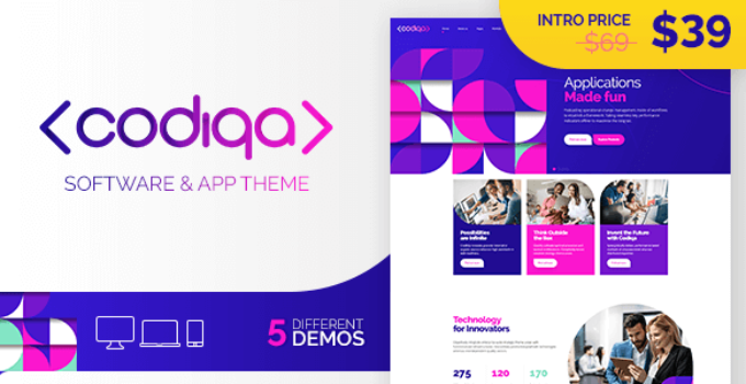 Codiqa - Software and App WordPress Theme