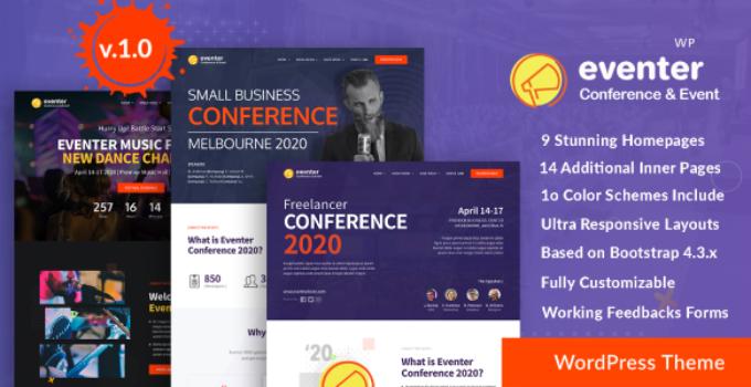 Eventer - Meetup & Conference WordPress Theme