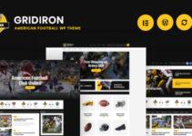 Gridiron | American Football & NFL Team WordPress Theme
