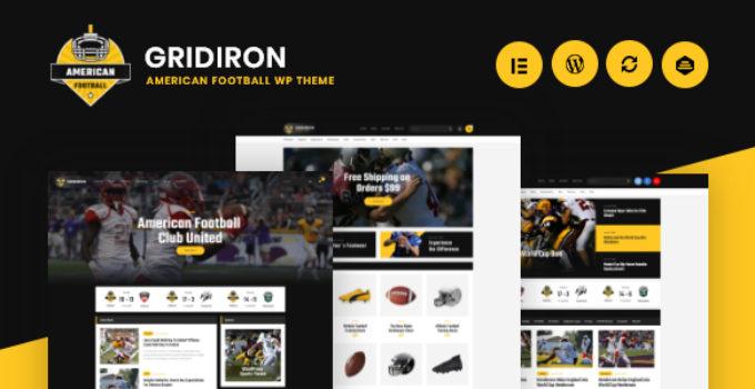 Gridiron   American Football & NFL Team WordPress Theme
