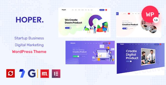 Hoper - Digital Marketing & Startup Theme