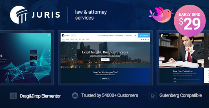 Juris - Law Consulting Services WordPress Theme