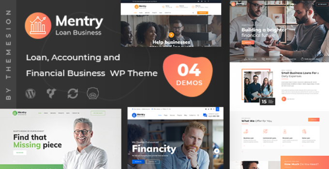 Mentry - Loan and Financial WordPress Theme