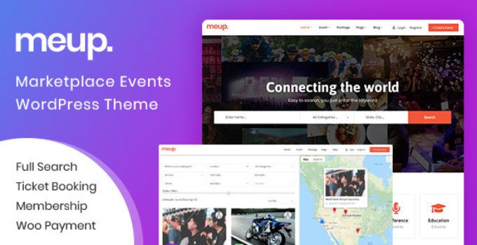 Meup - Marketplace Events WordPress Theme
