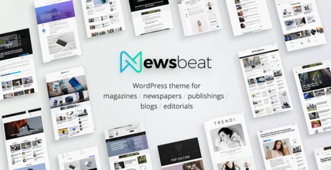 Newsbeat - Optimized WordPress Magazine theme