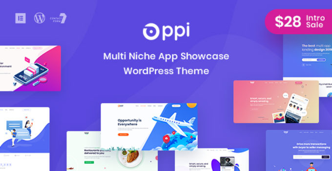 Oppi - Multi-Niche App Showcase WordPress Theme