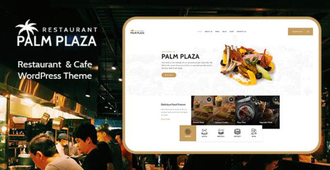 Palmplaza - Restaurant & Cafe WordPress Theme