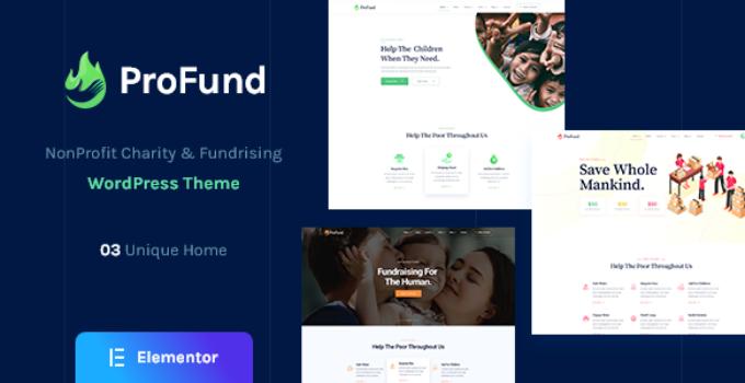 ProFund - Nonprofit Charity WordPress Theme