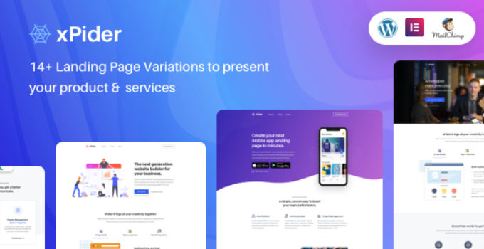 xPider | WordPress App Landing Page