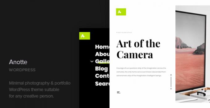 Anotte - Horizontal Photography WordPress Theme