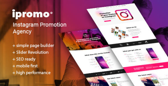 iPromo – Instagram Agency WordPress Theme