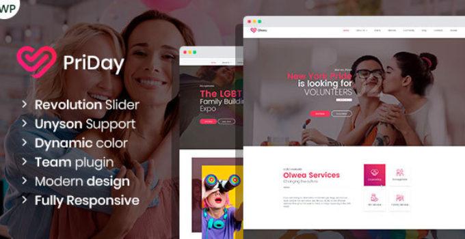 PriDay – LGBT Community WordPress Theme