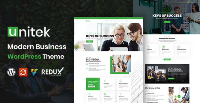 Unitek - Business WordPress Theme