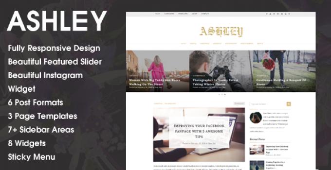 Ashley - A WordPress Blog Theme