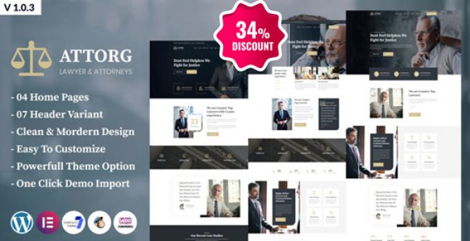 Attorg - Attorney WordPress Theme