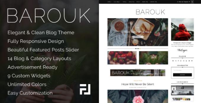 Barouk - An Elegant Responsive WordPress Blog Theme