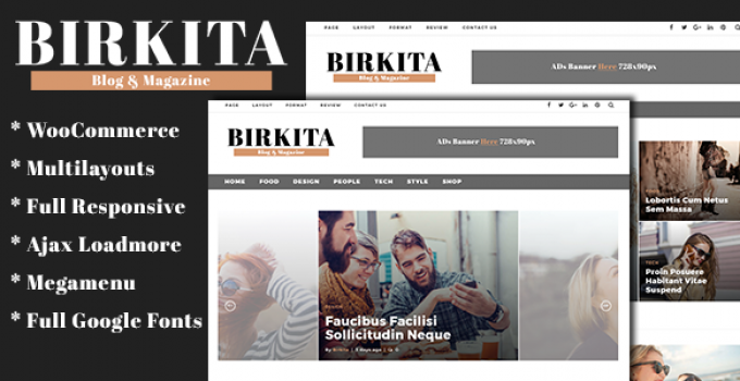 Birkita - WordPress Blog and Magazine Theme
