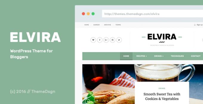 Elvira - WordPress Theme for Bloggers