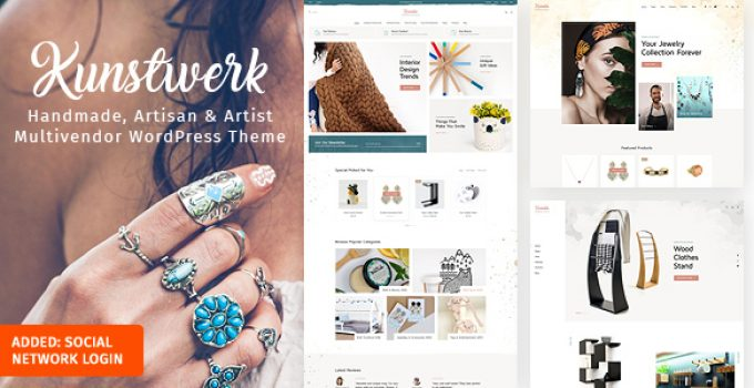 Kunstwerk - Handycraft Marketplace WordPress Theme