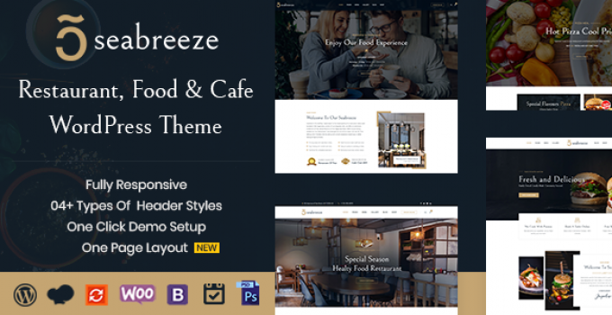 Seabreeze - Restaurant and Cafe WordPress Theme