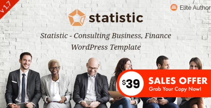 Statistic - Business Consulting and Professional Services WordPress Theme