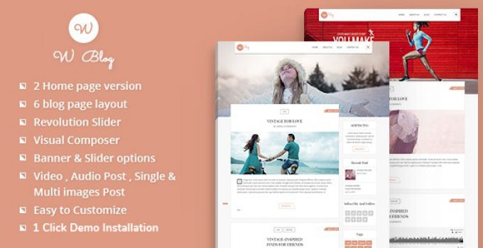 We Blog WordPress Theme