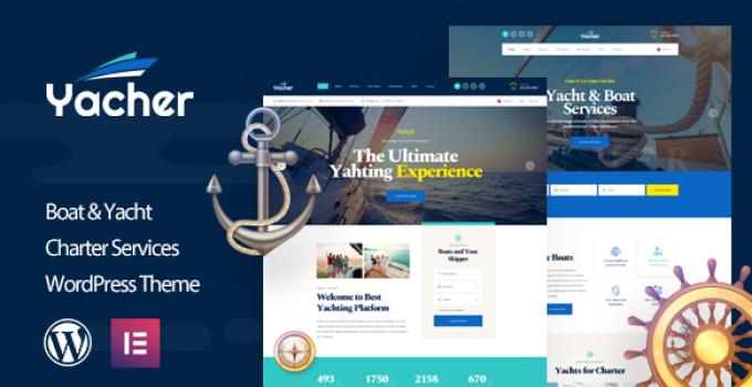 Yacher - Yacht Charter Services WordPress Theme