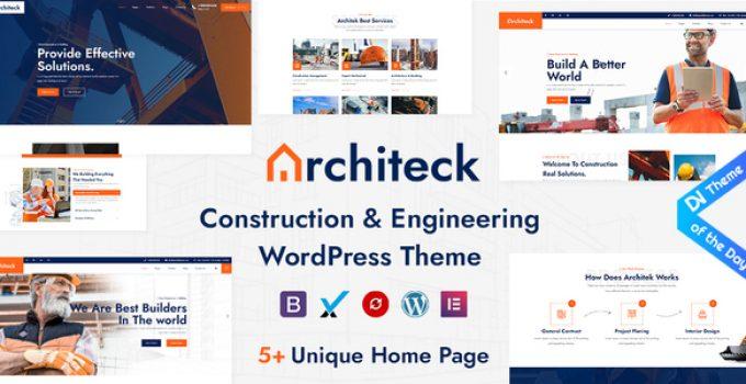 Architeck - Construction WordPress Theme