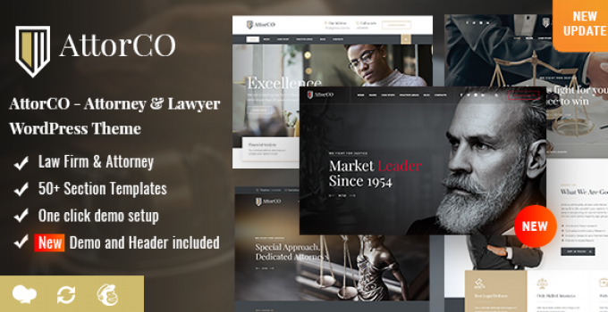 AttorCO - Attorney & Lawyers WordPress Theme