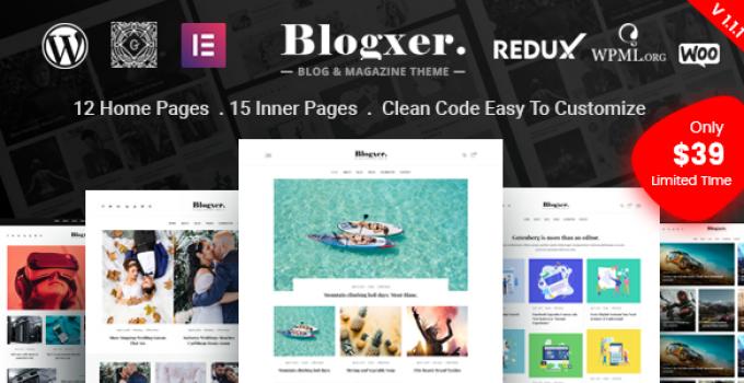 Bloxer - Blog & Magazine WordPress Theme