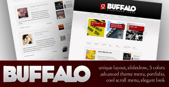 Buffalo - Unique WordPress Theme (5 in 1)