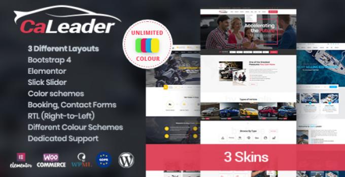 CaLeader - Car Dealer WordPress Theme