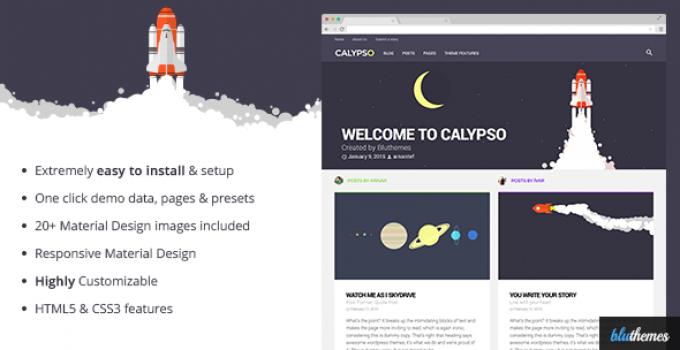 Calypso | Material Design WordPress Theme