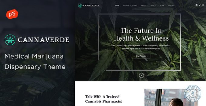 Cannaverde - Medical Marijuana Dispensary Theme