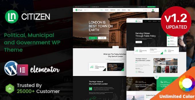CityGovt - Government WordPress theme