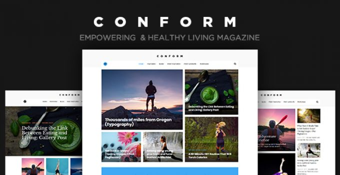 Con Form - Healthy Lifestyle Magazine Theme