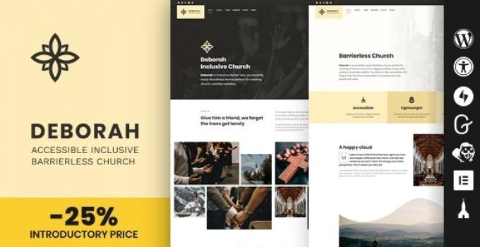 Deborah - Inclusive Church WordPress Theme