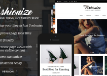 Fashionize - Responsive WordPress Blog Theme