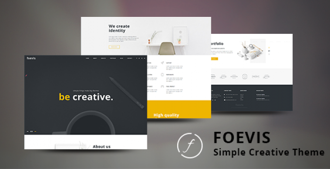Foevis - A WordPress Theme For Creative Agency