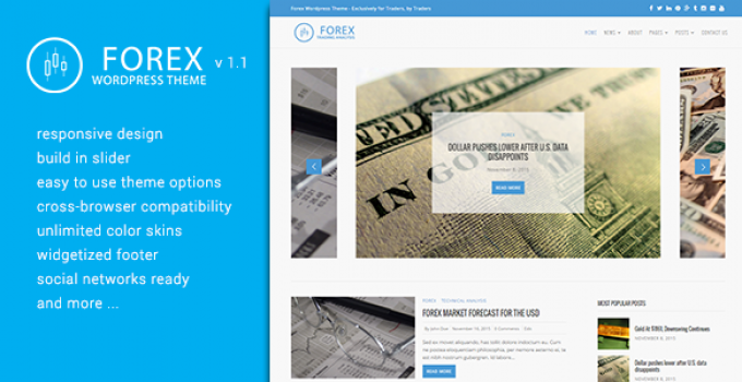 Forex WordPress Theme - Exclusively for Traders