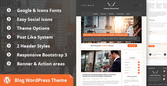 Impala Boulevard - Blog, Magazine WordPress Theme