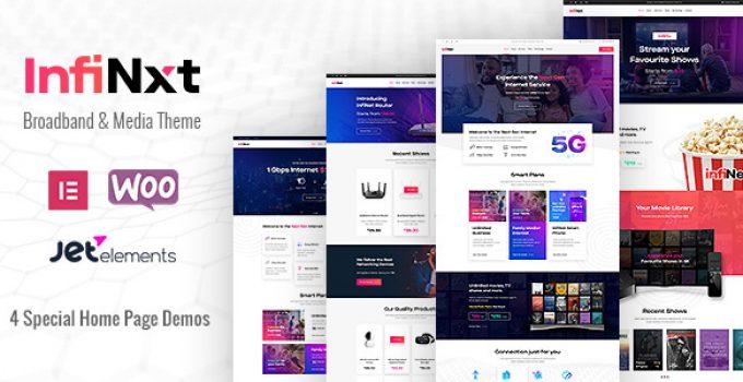 InfiNxt | Satellite TV, Internet Service Provider WordPress Theme