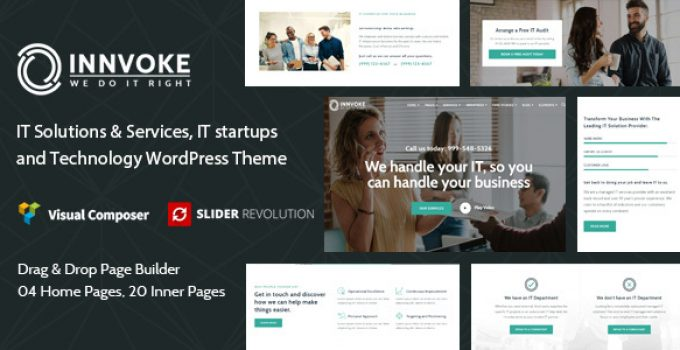 Innvoke - IT Solutions & Services WordPress Theme