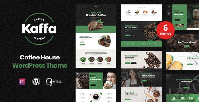 Kaffa - Cafe & Coffee Shop WordPress Theme