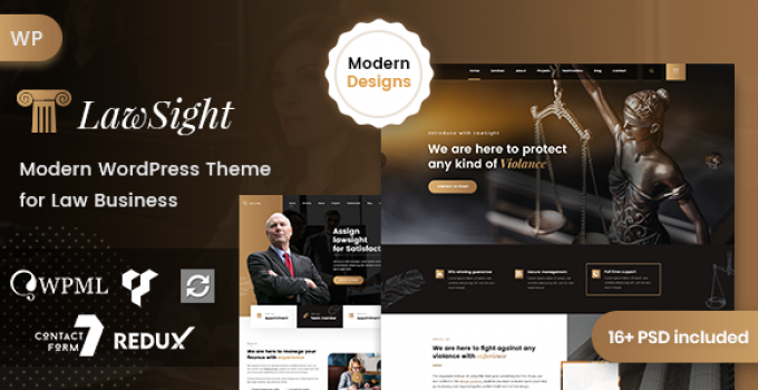 Lawsight - Law & Lawyer WordPress