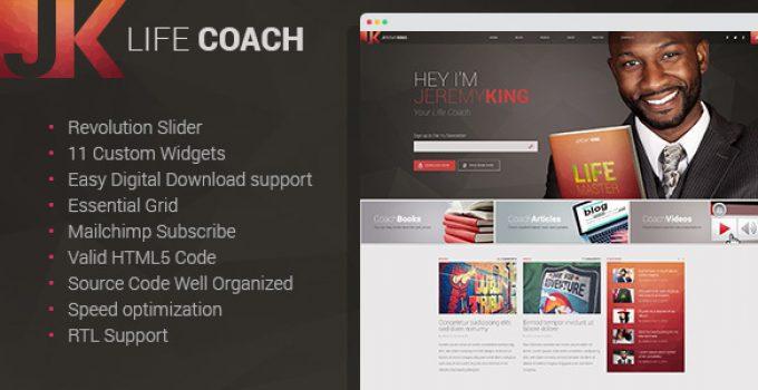 Life Coach - Personal Page WordPress theme