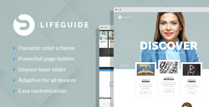 LifeGuide - Personal and Life Coach WordPress theme