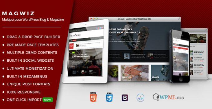 MagWiz - Multipurpose WordPress Magazine & Blogging theme
